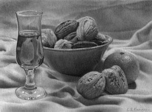 Walnuts and Amaretto mini art
