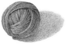 draw a yarn ball