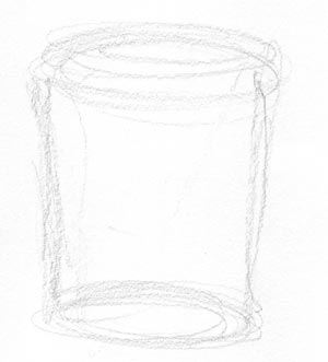 draw your coffee mug step one