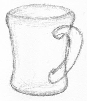 draw your coffee mug step two