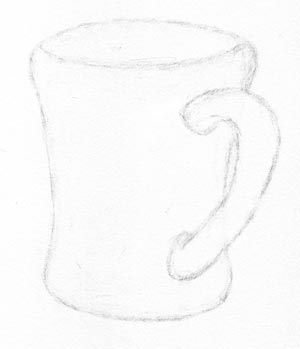 draw your coffee mug step three