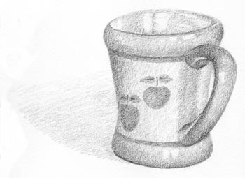 draw your coffee mug step seven