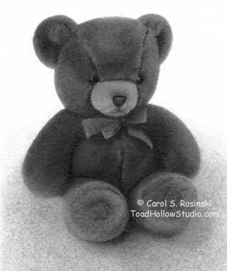 Pencil Drawing of a Teddy Bear